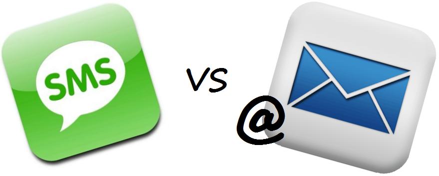 O email e o sms são os canais de marketing direto digital por excelência.