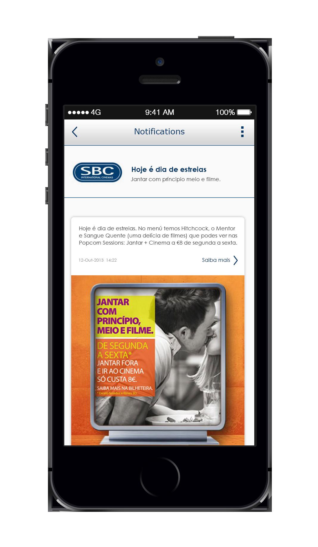 Aplicação móvel SBC desenvolvida pela Direct100.